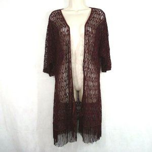 Liberty Love Open Knit Open Front Duster Size M